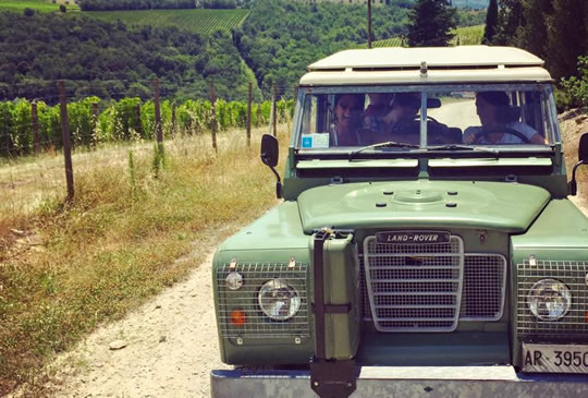 Vintage off road & wine tastings in Chianti